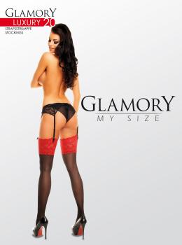 e10b6833504c Glamory Luxury 20 Strapsstrümpfe - transparent, glänzend